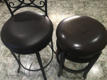 2 Pieces Of Antique Finish Stools