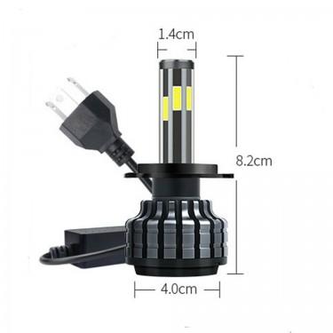 6sided LED Headlight Bulbs 200W - H4, H7, H13