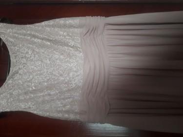 Plus Size Beige Formal Dress (size 18)