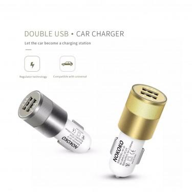 Dual USB Port Car Charger - 2.1A & 1A