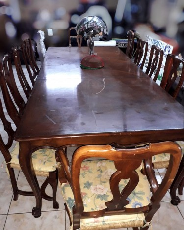 Dining Table With Twelve Chairs
