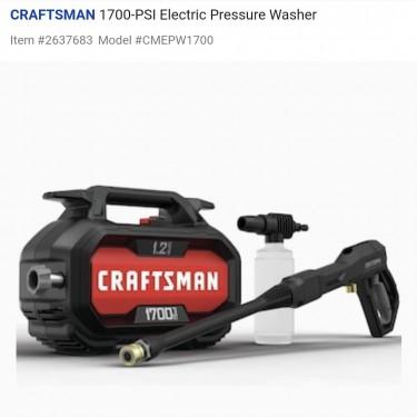 Electric Pressure Washer 2000PSI 14AMP