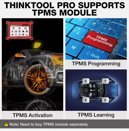 2021 THINKTOOL PRO OBD2 Scanner Auto ALL Systems T