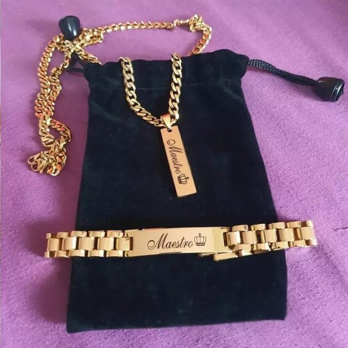 Stainless Steel Customized Necklace And Bracelet