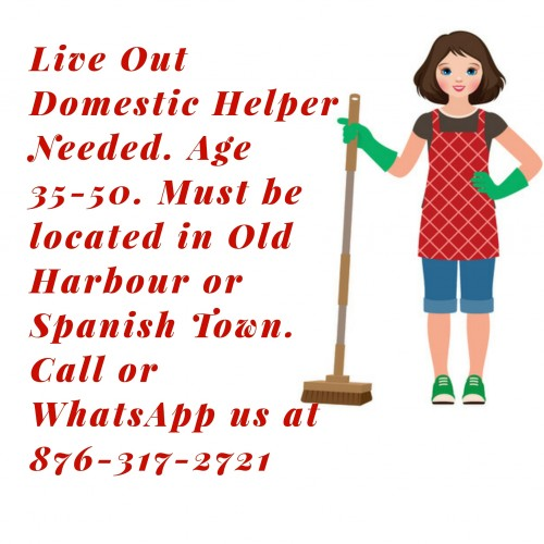 Domestic Live Out Helper Needed.
