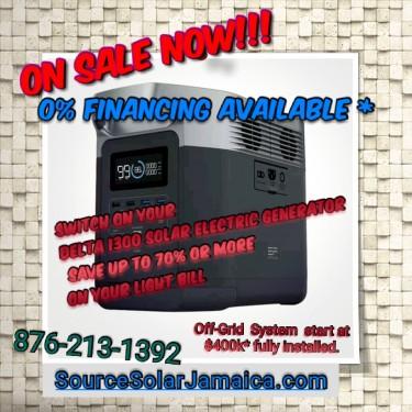 BNIB ALL-In-1 Personal Solar Power Station $285k Appliances All Island Service