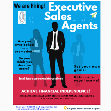 Executive Sales Agents Full Time Jobs Send Resume And Application Via Email ONLY