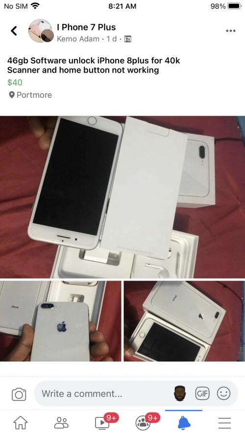 Software Unlock 64gb IPhone 8plus