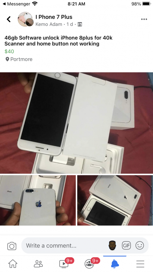 Software Unlock IPhone 8plus 64gb