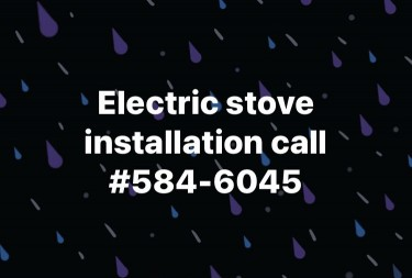 Electric Stove Installation/ Repairs