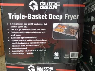 Triple Basket Deep Gas Fryer
