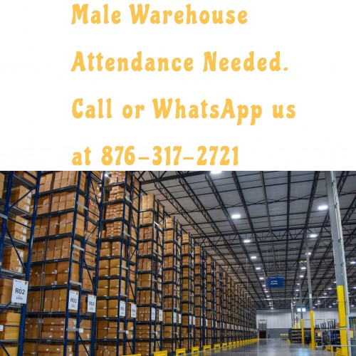 Male Warehouse Attendance Needed.