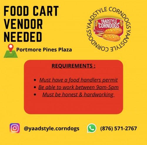 Food Cart Vendor Needed