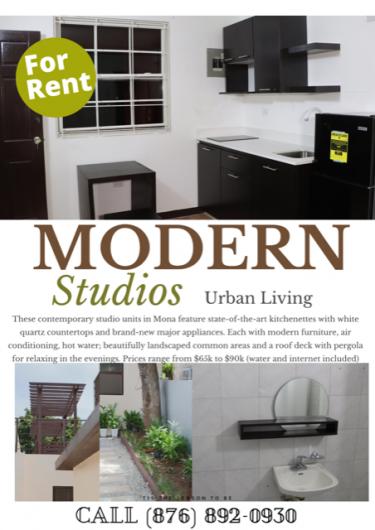 Modern Studios - Fully Furnished