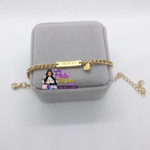 Baby Girl Bracelet (Engraved Both Sides)