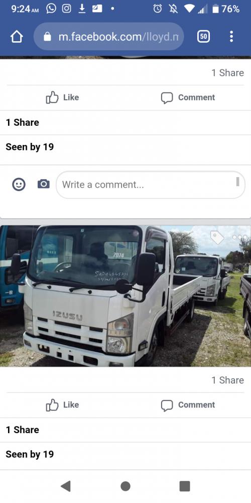 Pick Up Truck Isuzu Auto Clean 3.5mil
