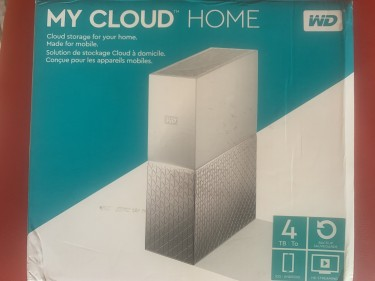 4TB Western Digital My Cloud Home Nas Drive  With