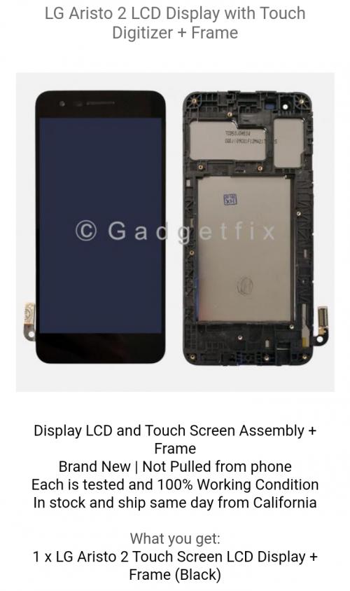 LG Aristo 2 Screen Replacement