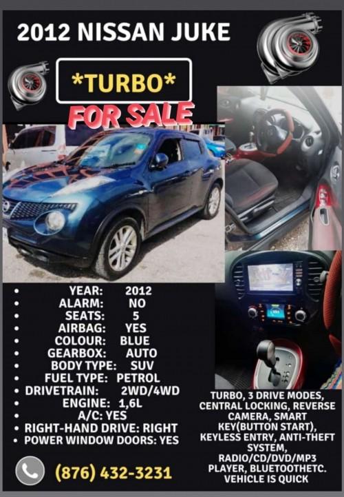 2012 Nissan Juke Turbo For Sale Cars Half Way Tree