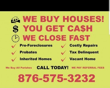 We Buy Houses/Land Land Kingston