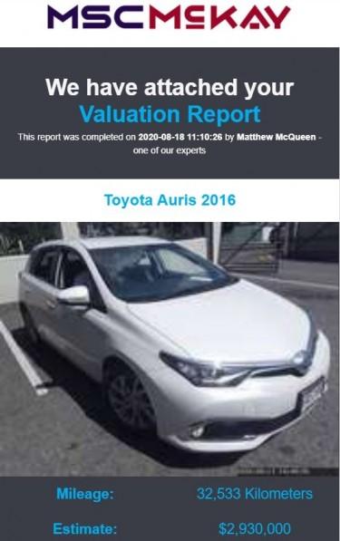 2016 Toyota Auris HYBRID Cars Red Hills