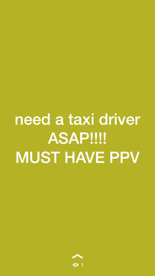 Need A Taxi Driver