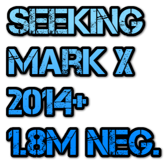 2014 Mark X Wanted 1.8m