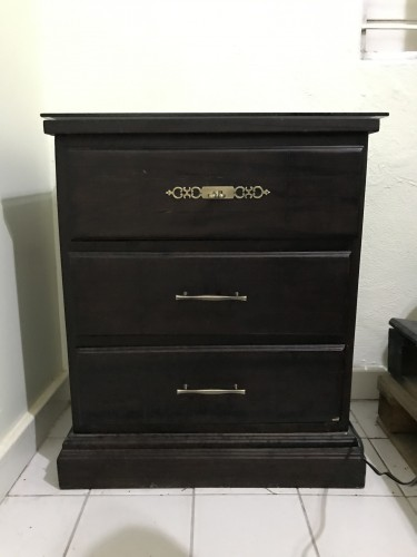 3 Drawer Bedside Tables (2) With Glass (15K Each)