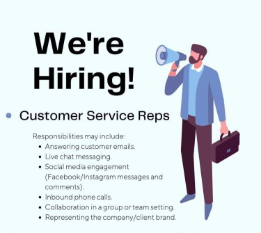 HOME BASED CUSTOMER SERVICE REP NEEDED NOT AGENCY