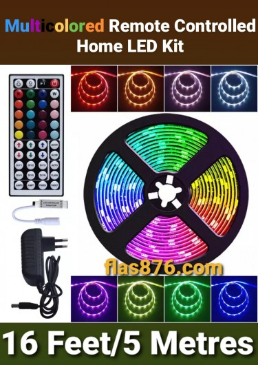 16ft Multicolored Remote Controlled Home LED Strip