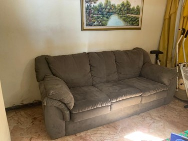 Modern Couch, Coffee Table, Display Stand - NEG