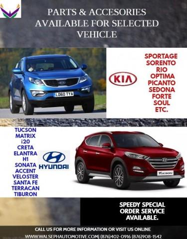 Auto Parts For Hyundai, Kia, Nissan, Toyota, Suzuk
