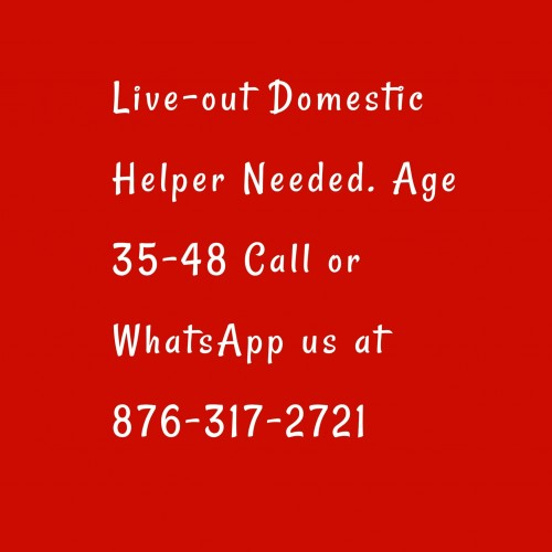 Live-out Helper Needed