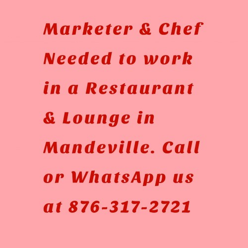 Male Chef URGENTLY Needed In Mandeville