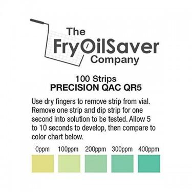 FryOilSaver Quaternary Ammonium Sanitizer QR5 Test
