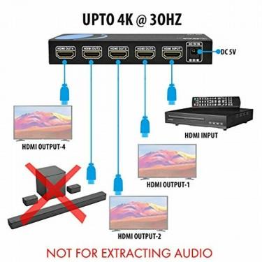1x4 HDMI Splitter 18G 4K