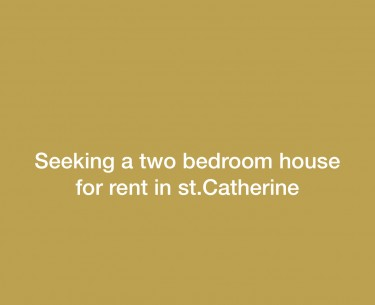 Seeking A Two Bedroom For Rent