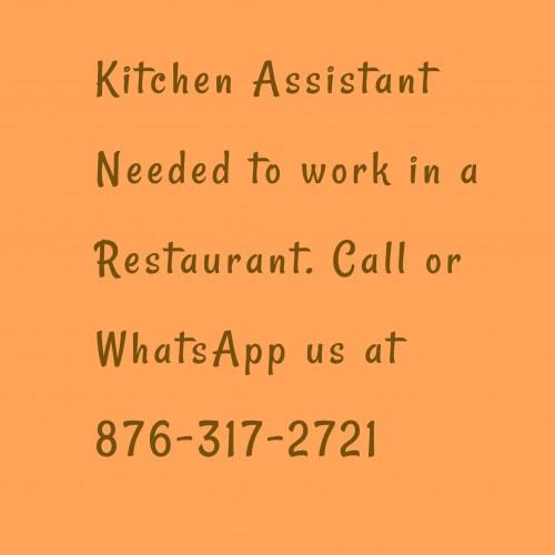 Kitchen Assistant Needed