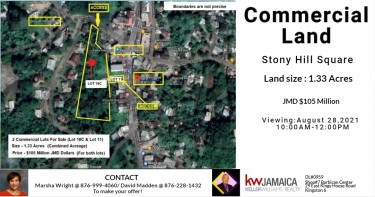 Prime Commercial Land - Stony Hill Square