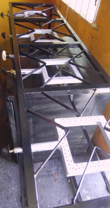 4 Burner Industrial Stove And Display Cooler Black