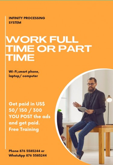 WORK FROM HOME ON YOUR OWN TIME Part Time Jobs Jamaica